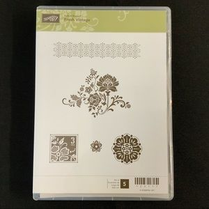 STAMPIN' UP! Fresh Vintage Cling Rubber Stamp Set
